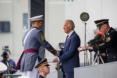 SUBMITTED PHOTOS - David Grossman got the opportunity to shake hands with U.S. Vice President Joe Biden during his West Point graduation ceremony.
