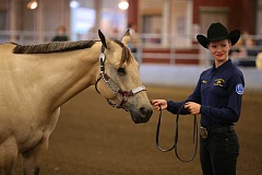 SUBMITTED PHOTO - Photo of Maisie Rowley and her horse at the Pacific Northwest Invitational Championship.
