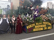 COURTESY OF ROBIN HOOD FESTIVAL ASSOCIATION - Sherwood's 63rd Annual Robin Hood Festival is set for this weekend. Sherwood won in the mini-float division in this year's Portland Rose Festival Grand Floral Parade.