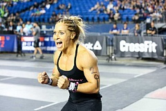 PHOTO CREDIT: GAMES.CROSSFIT.COM - Carleen Mathews, 32, a Longview, Wash., native and the owner of CrossFit St. Helens, won the West Regional and will challenge for Fittest Woman on Earth at the CrossFit Games July 19-24 in Carson, Calif.