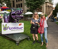 COURTESY PHOTOS: RICK PAULSON - Everyones favorite prehistoric lizard, Arty the Artosaur will be back this year to help with an arts and science activities on STEAM Street.