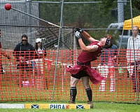 OUTLOOK PHOTO: JOSH KULLA - An athlete throws the Scottish hammer Saturday during the Portland Highland Games heavy athletics competition at Mount Hood Community College.