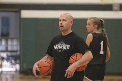 PHIL HAWKINS - New North Marion girls basketball head coach Trevor Bodine wants to see the team pick up the pace on offense and defense next year to take advantage of the Huskies natural athleticism.
