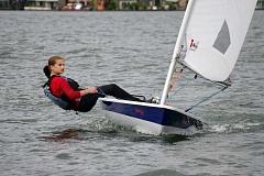 SUBMITTED PHOTO - Alexa Ripple races on a Laser Radial, a sailboat that's 7-8 feet in length. She grew up competing with the Willamette Sailing Club, and has tentative plans to continue racing in college at McGill University in Montreal.
