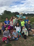 SUBMITTED PHOTO - West Linn-Wilsonville's Garden Camp students went on multiple field trips during the week, including to Luscher Farms.