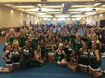 SUBMITTED PHOTO - West Linn High School Varsity Cheerleading was named Grand Champions, and WLHS Junior Varsity won first place in its division.