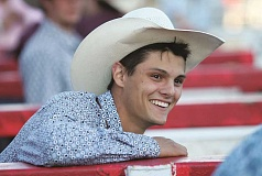 JIM BESEDA - Chase Dougherty, an 18-year old Woodburn resident, competed in the St. Paul Rodeo and the Molalla Buckeroo as part of Cowboy Christmas, the first week of July which features a number of rodeo competitions throughout the region.