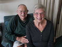 CONNECTION PHOTO: KELSEY O'HALLORAN - Bill Radakovich (left) and Anna Radakovich have lived in their Southwest Burlingame home for more than 60 years.