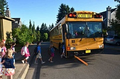 PMG FILE PHOTO - There are about 87 different school bus routes in the Reynolds district.