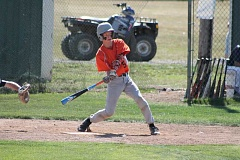 JIM BESEDA/MOLALLA PIONEER - Molalla catcher Casey Brooks went 1 for 3 with an RBI-double in Thursday's 10-5 loss to Marist at Estacada High School.