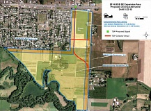 COURTESY PHOTO - An early draft of the zoning changes shows the 138 acres of urban growth boundary land annexed into Cornelius.