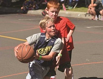 HERALD PHOTO: COREY BUCHANAN - The Nothing But Net 3-on-3 tournament, put on by the Canby Rotary, took place Saturday, July 30 at Wait Park. 111 teams participated and 15 squads were crowned champions.