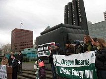 TRIBUNE FILE PHOTO  - Several years ago, environmental activists pushed PGE to close down its coal-fired plant at Boardman, Oregons lone coal plant. The utility later agreed to do that in 2020, but has until 2035 to stop selling coal power from two other plants in Montana.