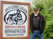 NEWS-TIMES FILE PHOTO - William Ballard, owner of Iron Horse Garage in Forest Grove, died Thursday in a motorcycle crash in Washington state.