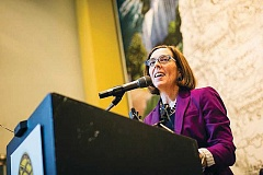 PMG FILE - Gov. Kate Brown has endorsed a measure on the November general election ballot that would raise some taxes for corporations in Oregon.