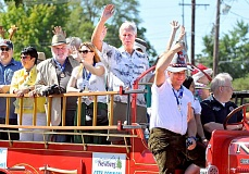 GARY ALLEN - Representatives from Newberg's sister city in Poysdorf, Austria, joined their counterparts on the Newberg City Council riding in the Old Fashioned Festival in late July.