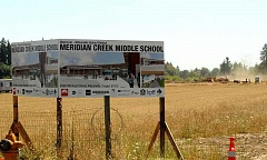 SPOKESMAN PHOTO: VERN UYETAKE - All the groundwork is complete meaning construction on Meridian Creek Middle School can now begin.