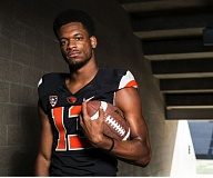 TRIBUNE FILE PHOTO: JONATHAN HOUSE - Oregon State receiver Jordan Villamin says having a week of football camp in Bend is like 'Remember the Titans,' and gives the Beavers an 'old-school feel.'