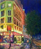 SUBMITTED PHOTO  - The art of Lake Oswego artist Regina Atwood, including this piece titled Paris Nights, will be featured at Trainers Club during the month of August. Atwood is a plein air artist working in oil and watercolor. Her love of nature inspires the subjects and situations she paints, she says, adding that outdoor lighting is a wonderful teacher to bring compositions to life. Trainers Club is located at 333 S. State St. Visit between 7 a.m. and 7 p.m. daily.