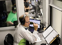 HILLSBORO TRIBUNE FILE PHOTO - Rich Burk of Hillsboro, the voice of the Hillsboro Hops, is calling some of the contests at the Summer Olympic Games in Rio de Janeiro, Brazil, from a studio in Stamford, Conn., this  week and next.