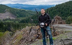 SUBMITTED PHOTO - Grant Canary and his partners at DroneSeed are outfitting drones to replant, treat and survey huge areas following timber harvests, wildfires and environmental degradation.