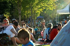 SPOKESMAN PHOTOS: CLAIRE COLBY - Crowd at the Rotary Summer Concert series finale Aug. 11 at Town Center Park in Wilsonville.
