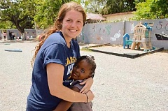 SUBMITTED PHOTO - Canby's Lena Childress recently spent some time in Jamaica as part of Canisius Colleges campus ministry for a service-immersion program.