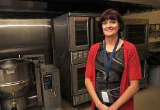 REVIEW PHOTO: VERN UYETAKE - Christi Hogan is the Lake Oswego School District's new food services director.