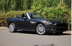 PORTLAND TRIBUNE: JEFF ZURSCHMEIDE - The styling of the 2017 Fiat 124 is inspired by the original Italian sport car, but built on the Mazda Miata chasis. The turbocharged 1.4-liter engine is unique, as are the base and optional suspensions.