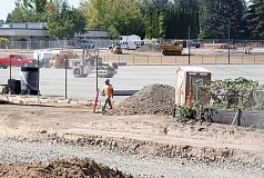TIMES PHOTO: JONATHAN HOUSE - Construction continues behind Mountain View Middle School for a new community park, one of THPRD's largest projects in recent years.
