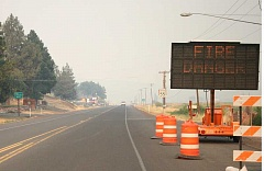 CENTRAL OREGONIAN FILE PHOTO - Crook County suffered through a lot of wildfire smoke in 2014 as this photo near the east edge of Prineville shows. This summer, by contrast, locals have enjoyed relatively clean air.
