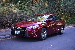 PORTLAND TRIBUNE: JEFF ZURSCHMEIDE - The sharp-looking 2016 Toyota Camry is the current version of the best selling car in the country. Buyers are attracted to long list of standard features, lengthy warranty, and high safety rating. A hybrid version (above) is also available.