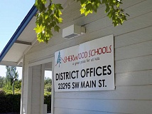 GAZETTE PHOTO: RAY PITZ - The Sherwood School District hired an outside lab to conduct lead tests at all the district's water fixture facilities. While most tested fine, three fixtures had excessive levels of lead and were turned off and removed.