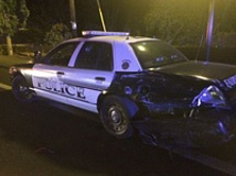 FAIRVIEW POLICE DEPARTMENT - A patrol cruiser has been totaled after a drunken driver slammed into the car's rear bumper on Saturday.