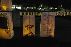 SPOKESMAN PHOTO: CLAIRE COLBY - Luminaria were personalized and decorated by hand at the event honoring loved ones.