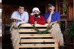 SUBMITTED PHOTO - Greg Shilling, Eric Nepon and Andy Barrett in Funhouse Lounges Stranded opens Aug. 12.