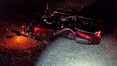 OSP  - A Colton man died Wednesday when his motorcycle crashed with another vehicle on Highway 211 near Molalla.