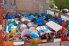 PORTLAND TRIBUNE FILE PHOTO - Relocation of the Right 2 Dream Too homeless camp in Old Town to Southeast Portland is still being considered by the state Land Use Board of Appeals.