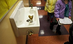 PMG FILE - Although drinking fountains were the primary target, all of the Newberg School District's fixtures were tested for lead in the water.