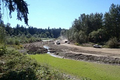 PHOTO COURTESY METRO - Restoration on the north side of the Clackamas River includes creating logjams in the floodplain to provide shelter for fish, birds, amphibians and mammals.
