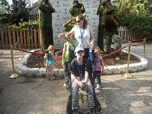 SUBMITTED PHOTO - Cameron Hatch, seated in his wheelchair, visited Busch Gardens in Tampa, Fla., with his mother, Stacie, and siblings, including his younger brother and twin sisters. The visit was on his bucket list.