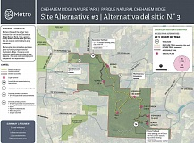 SUBMITTED GRAPHS: METRO - The first option has a total of 6.5 trail miles, including 4.7 miles of multi-use trails (wider trails that can accommodate mountain bikers and horses as well as hikers), 1.8 miles of nature trails (narrower trails that can go in more sensitive natural areas) and 2.0 miles of accessible trails that would accommodate wheelchairs or other limited-mobility visitors. In this version, 80 percent of the park would be devoted to conservation of wildlife habitat and other natural benefits such as water quality.