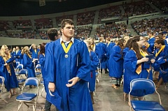 FILE PHOTO - Students graduate from Sam Barlow High School in 2015.