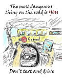 CLACKAMAS COUNTY - Molalla High School student, Jonathan Scudder, designed this award-winning poster about safe drving
