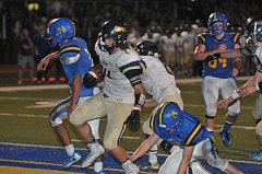 SUBMITTED PHOTO: SETH GORDON - Canby running back Kendle Boykin rushed for 36 yards and one touchdown against Newberg.