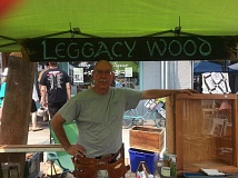 SUBMITTED PHOTO - David Legg, a member of the Guild of Oregon Woodworkers, does carpentry rooted in his grandfather's use of heritage woods.
