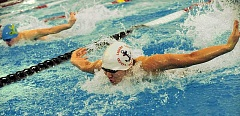 REVIEW FILE PHOTO: VERN UYETAKE - In February 2016, then-Lake Oswego High School senior Edward Kang set a new district record in the 100 butterfly and also won the district title in the 100 backstroke. Kang went on to attend the U.S. Military Academy at West Point.
