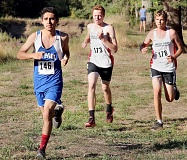 CLACKAMAS REVIEW PHOTO: JIM BESEDA - Posting a time of 21:21.31, St. Paul senior Marco Anaya placed 23rd at Pat's Acres Sept. 14. The Buckaroos cross country team placed eighth overall with a score of 205. St. Paul will participate in the Warrior Dash Saturday.