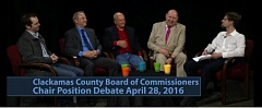 COURTESY PHOTOS - The Clackamas County Board of Commissioners early this year.