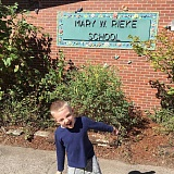 SUBMITTED PHOTO - Mason Abbott starts his first day of kindergarten at Rieke Elementary.